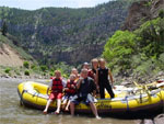 Rafting down the Colorado River